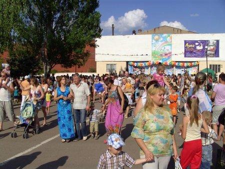 Праздник детства в луганском парке Щорса