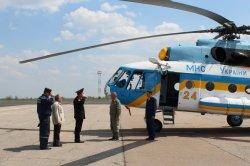 В Луганской области тушить лесные и степные пожары будет вертолет ГСЧС Украины МИ-8 МТ