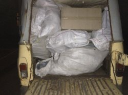 В Луганской области пограничники задержали УАЗ с секондом, направляющийся в Россию