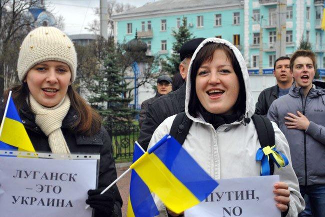В Луганске просили столичную власть «не сдавать Донбасс» (ФОТОРЕПОРТАЖ)