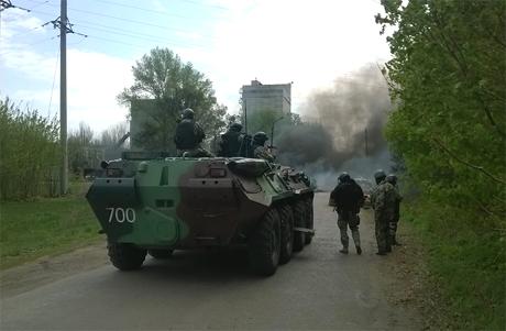 Еще один блок-пост террористов под Славянском освобожден от террористов