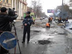 В Луганске журналисты вместе с сотрудниками ГАИ один день несли службу на дорогах города