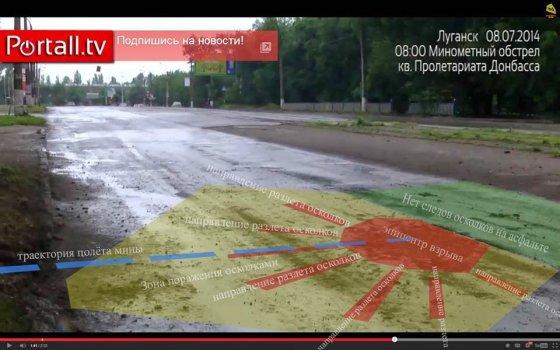 Убившая 8 июля в Луганске пассажиров маршрутки мина, была выпущена террористами, а не украинской армией, -источник