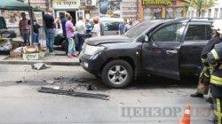 В центре Киева взорвался джип, пострадал мужчина
