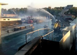 На Одесчине горело грузовое судно