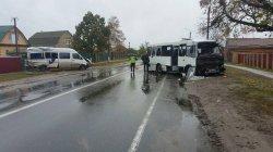 Под Киевом столкнулись пассажирские автобусы