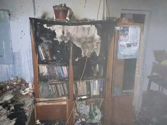 ВКиеве cотрудники экстренных служб тушили пожар водной изшкол