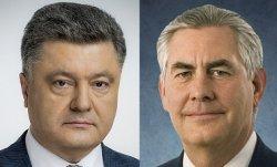 Порошенко согласовал с Тиллерсоном политику по миротворцам в оккупированных  Луганске и Донецке