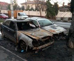 В Одессе сожгли два авто на еврономерах