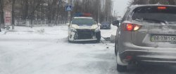 В Рубежном произошло ДТП с участием патрульных