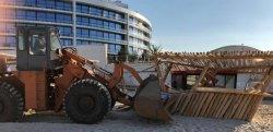В Одессе на пляжах начали сносить незаконные постройки