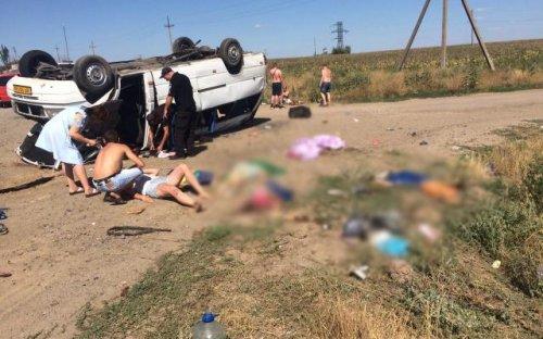 Жуткое ДТП в Запорожской области: Столкнулись автобус и КамАЗ. Погибли 4 детей и 1 взрослый