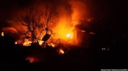 В Одессе сгорели 16 пляжных домиков