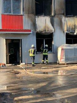 В Киеве в бизнес-центре произошел пожар