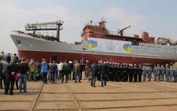 В Киеве спустили на воду разведывательный корабль для ВМС