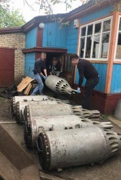 СБУ обнаружила арсенал авиационного вооружения под Киевом