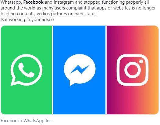 Сбой произошел вработе WhatsApp, Инстаграм и социальная сеть Facebook