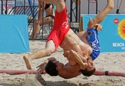 В Одессе прошел турнир по пляжной борьбе Beach Wrestling World Series