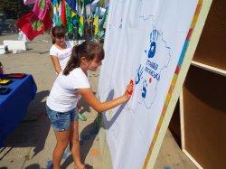 Города Луганской области празднуют День прапора Украины